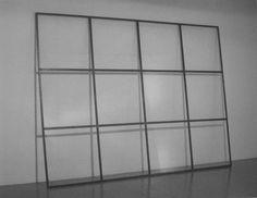 Alighieri Boettie, (1940-1994), 'niente da vedere niente da nascondere', 300 cm x 400 cm x 4 cm, iron and glass