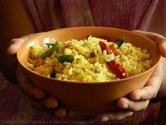 Indian Cuisine: Mamidikaya Borugula Pulihora ~ Puffed Rice with Mango