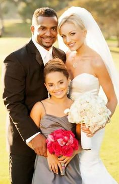 Alphonso Riberto With-His Wife and Daughter