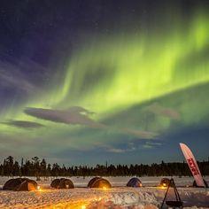 Northern lights over the camp at Fjällräven Polar 2014. #tbt #fjallraven #fjällräven #fjallravenpolar #dogsleigh #adventure by fjallravenofficial