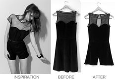 DIY Tutorial: DIY Rompers / DIY Clothes Refashion : DIY Dress to Playsuit - Bead&Cord