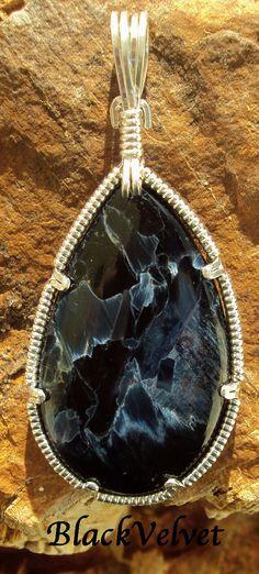 BlackVelvet  Namibian Pietersite in Silver by ShootingStarWorks, $72.00