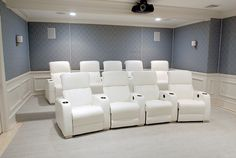 Home Theater Room - Great use for that bonus room above the garage in many Central Florida homes http://www.protectpainters.com/local-house-painting/fl/oviedo-winter-springs