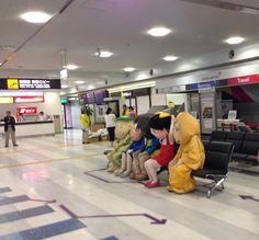 空港で待機する妖怪たちがシュールすぎる!!