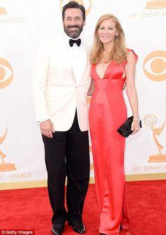 Jon Hamm arrived with wife Jennifer Westfeldt