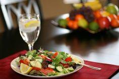 Low acidity in body, foods that help keep you alkaline, salad, lemon water,