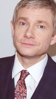Martin Freeman - 'Fargo' Screening in NYC // Isn't he handsome? And why does he have to wear that tie from Peckham Rye?