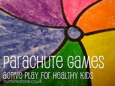 These are a bunch parachute activities. I am not sure if you know but little kids love parachute games. This website gave a lot of different types of parachute activities so the kids do not get bored with one game. Pe Activities, Movement Activities, Gross Motor Activities, Physical Activities, Fitness Activities, Indoor Activities, Educational Activities, Summer Activities, Physical Development