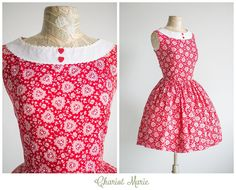 Hey, I found this really awesome Etsy listing at https://www.etsy.com/listing/218298711/valentines-day-heart-print-1950s-dress