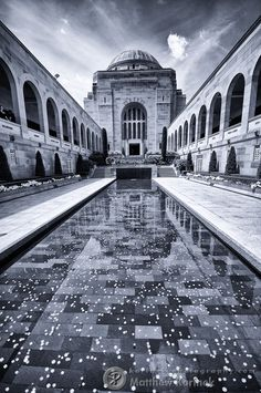 Australian War Memorial - Canberra by Matt Korinek Beautiful World, Beautiful Places, Australian Capital Territory, Land Of Oz, Anzac Day, Australia Travel, Black And White Photography, The Good Place, Places To Go