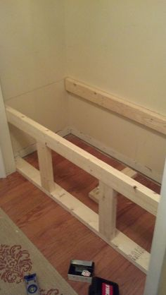34 ideas coat closet organization diy benches for 2019 Closet Bench, Closet Nook, Hallway Closet, Kid Closet, Closet Ideas, Closet Mudroom, Laundry Closet, Garage Closet, Reading Nook Closet