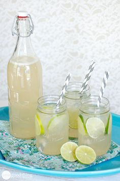 Be ready for soaring summer temperatures with this fizzy limeade combined with a bright ginger flavor!