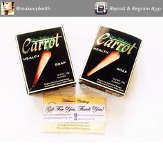 Thank you for featuring our Carrot Health Soap @makeupkeith ❤️  Follow her on IG. She regularly reviews make up and skin care products.