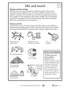 Printables Separation Of Mixtures Worksheet our 5 favorite prek math worksheets experiment and fourth grade science worksheet