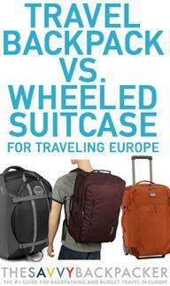 Europe Packing List — The Ultimate Packing Guide for Visiting EuropeGuide to Budget Backpacking in Europe – The Savvy Backpacker AWESOME LIST and explanations Backpacking Europe Tips, Packing For Europe, Packing Tips For Travel, New Travel, Solo Travel, Traveling Europe, Beach Travel, Packing Lists, Travel Stuff