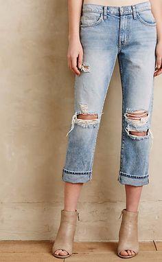 Current/Elliott The Highwaist Straight Jeans #anthrofave