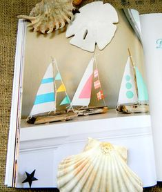 Coastal Crafts: Book by Cynthia Shaffer: http://www.completely-coastal.com/2015/07/coastal-crafts-book-by-Cynthia-Shaffer.html