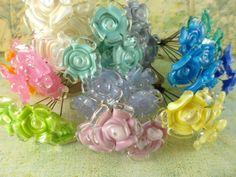 Lampwork headpin bouquets