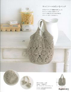 Small & Kawaii Crochet Bag Japanese by JapanLovelyCrafts on Etsysac gris Many graphed purse patterns on this site.alphabet crochet patterns - cute for embellishing blankets?so many free bag patterns - just need to know how to read the charts now! Kawaii Crochet, Love Crochet, Bead Crochet, Filet Crochet, Crochet Handbags, Crochet Purses, Crochet Bags, Japanese Crochet Bag, Crochet Purse Patterns