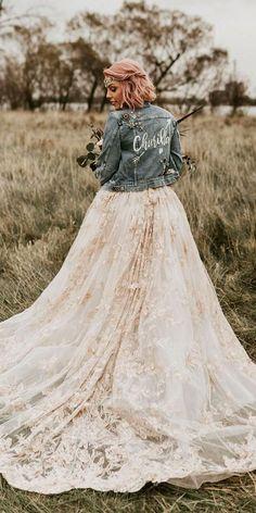 wedding jackets denim country for fall northern native photography Denim Wedding, Wedding Jacket, Fall Wedding, Cute Wedding Ideas, Wedding Trends, Wedding Inspiration, Bridal Dresses, Wedding Gowns, Wedding Bride