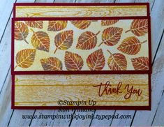 Stampin Up Thoughtful Branches stamp set. Autumn colors. Kim Williams…