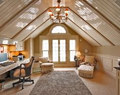 Finished attic. Bonus room + music studio