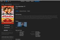 "After the Controversial movie ""The Interview"" made 15 million Dollars online in opening weekend, Apple made it available for purchase on iTunes.  #technews #theInterview #northkorea #sony #itunes #apple #technology #socialmedia #socialmediamarketing #technology #socialglims #socialmediaconsulting #happynewyear #2015"