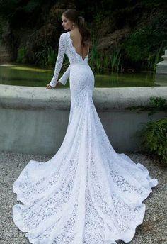 Simple bride dress