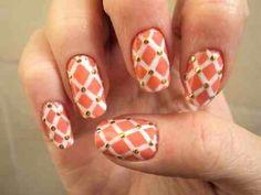 Criss cross nails