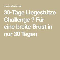 30-Tage Liegestütze Challenge ᐅ Für eine breite Brust in nur 30 Tagen