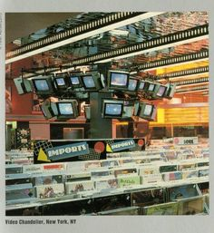 "phdonohue: "" Tower Records, New York City, 1985 "" Tower Records, Heavy Metal Comic, Vintage Street Fashion, Retro Futurism, Futuristic, Arcade, New York City, Vinyls, Bruce Sterling"