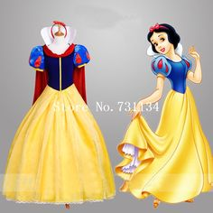 Adult Snow White Fancy Dress For Women Halloween Cosplay Costume Princess Fairytale Snow White Halloween party Dress Snow White Fancy Dress, Snow White Dresses, White Dresses For Women, White Women, Cocktail Bridesmaid Dresses, Cocktail Dresses With Sleeves, V Neck Cocktail Dress, White Princess Dress, Disney Princess Dresses