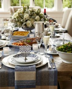 Lovely table setting from Ina Garten's house