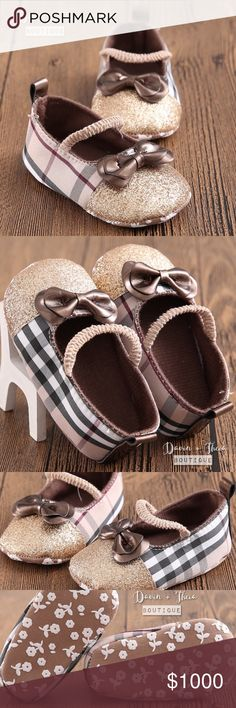 """Coming Soon🌟Elegant Pre-Walker Shoes🌟 🌟BRAND NEW🌟  So pretty and elegant looking shoes for your baby.  💟Submit your offer thru the """"Offer"""" button 💟NO Price discussion in the comment 💟NO Lowballing 💟NO Trades Davin+Theia Shoes Baby & Walker"""