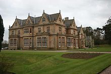 Bangor Castle in Bangor, Northern Ireland, was completed in 1852 for the Hon Robert Edward Ward. This imposing building is not so much a castle as an elegant mansion in the Elizabethan-Jacobean revival style.