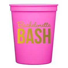 Pink Bachelorette Bash Stadium Cups
