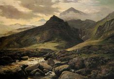 Sidney Richard Percy (1821 – 1886) is one of my favourite 19th century landscape painters. He had a particular love of the Welsh landscape of Snowdonia