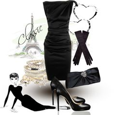 """""""Classic black"""" by hedel on Polyvore"""