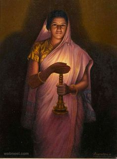 images of indian women in kitchen | 25 Best Raja Ravi Varma Paintings - 18th Century Indian Traditional ...