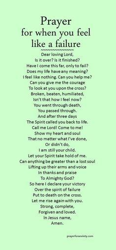 Prayer for when you feel like a failure