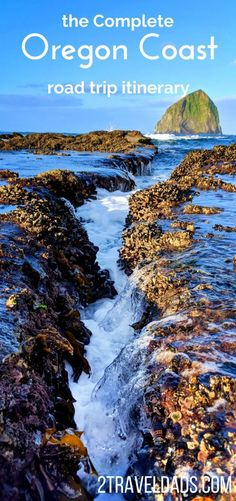 The rugged coastline of an Oregon Coast road trip is the perfect American vacation plan. From Portland and hiking in the city to the relaxed southern coast, driving the Oregon Coast is an ideal travel plan. 2traveldads.com #Oregon #OregonCoast #roadtrip #family #beach