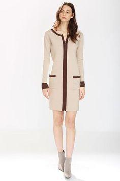 Danielle Reversible 4-Way Silk/Cashmere Cardigan/Dress – Beige/Pink