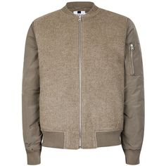 244dfb52a21 Stone Bomber Jacket containing Wool