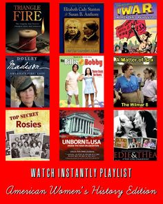 Netflix Watch Instantly American Women's History Playlist