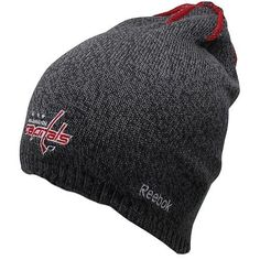4969695c1cb Quality embroidery. Officially licensed NHL product. Imported. One size  fits most. Reebok Washington Capitals TNT Reversible Knit Beanie -  Gray RedQuality ...