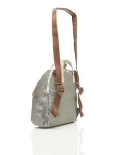 BabyMel - Robyn Stripes Diaperbag – Hello Little Page Girl Diaper Bag, Bottle Bag, Changing Pad, Backpack Bags, Bucket Bag, Wipes Dispenser, Stripes, Backpacks, Shoulder Bag