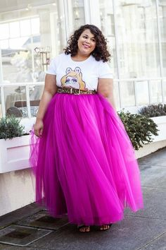 fc23be78bdb Plus Size Floor Length Adult Tulle Tutu Skirt with by LADYWOW