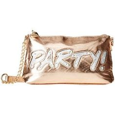 Betsey Johnson Women's Kitch Light Up Crossbody Party Rose Gold Cross Body