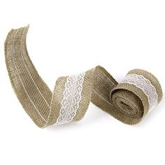 2m Burlap White Lace Craft Ribbon for Craft Wedding Home Decor Generic http://www.amazon.com/dp/B00USYGWAU/ref=cm_sw_r_pi_dp_iPzrwb19WB1X3