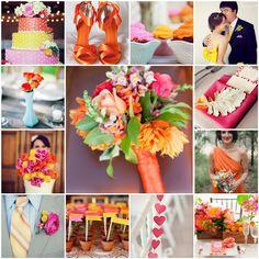 Solteiras Noivas Casadas: Decoração do Casamento - Pink, Amarelo e Laranja
